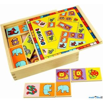 Dřevěné hračky - Domino - Zvířátka, 28ks (Bigjigs)