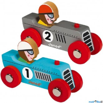 Dřevěné hračky - Auto - Retro dřevěné, Hranaté, 1ks (Janod)