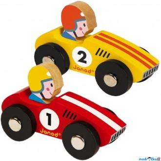 Dřevěné hračky - Auto - Retro dřevěné, Oblé, 1ks (Janod)