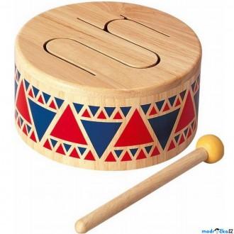 Dřevěné hračky - Hudba - Bubínek celodřevěný (PlanToys)
