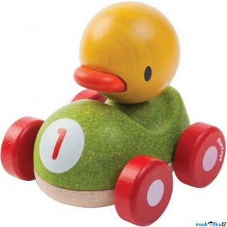 Dřevěné hračky - Auto - Závodník kachna dřevěné (PlanToys)