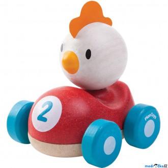 Dřevěné hračky - Auto - Závodník kuře dřevěné (PlanToys)