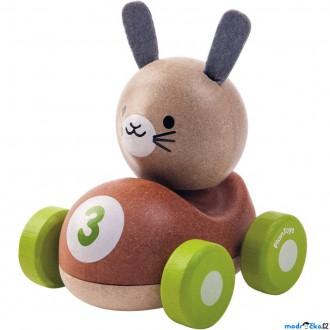 Dřevěné hračky - Auto - Závodník králíček dřevěné (PlanToys)