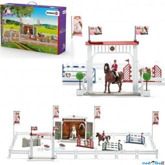 Ostatní hračky - Schleich - Jezdecký klub, Velké parkurové závodiště s koňmi