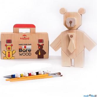 Dřevěné hračky - Kreativní sada - Medvídek Bare Wood (Kipod)