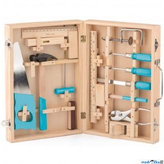 Dřevěné hračky - Malý kutil - Kufřík s opravdovým nářadím (Woody)