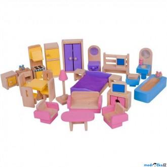 Dřevěné hračky - Nábytek pro panenky - Sada kompletního nábytku (Bigjigs)