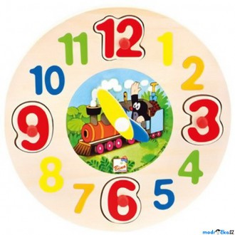 Dřevěné hračky - Puzzle hodiny - Krtek (Bino)