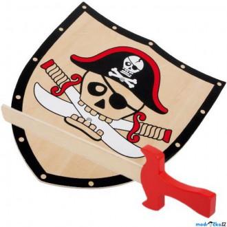 JIŽ SE NEPRODÁVÁ - Dětská zbraň - Pirátský štít a meč Barbaros (Legler)