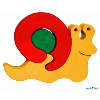 Puzzle a hlavolamy - Puzzle z masivu - Malé, Šnek (Fauna)
