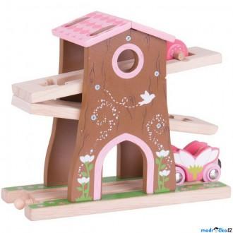 Vláčkodráhy - Vláčkodráha budovy - Vílí stromový dům s dráhou (Bigjigs)