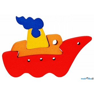 Puzzle a hlavolamy - Puzzle z masivu - Malé, Loď (Fauna)