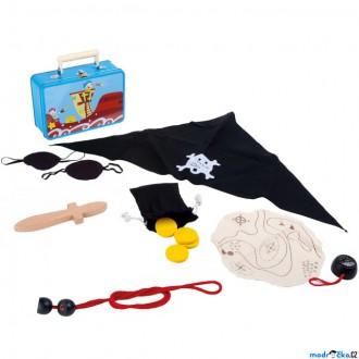 Dřevěné hračky - Pirát - Set v kufříku, Piráti (Legler)