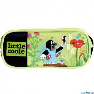 Dřevěné hračky - Školní potřeby - Pouzdro na pastelky, Krtek zelené (Bino)