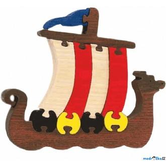 Puzzle a hlavolamy - Puzzle z masivu - Velké, Vikingská loď (Fauna)