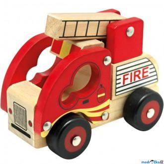 Dřevěné hračky - Auto - Hasiči dřevěné (Bino)