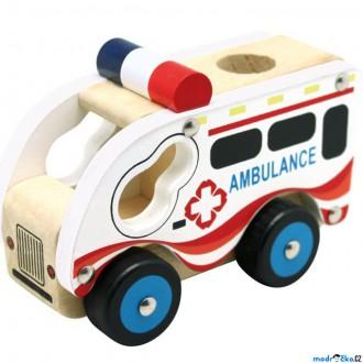 Dřevěné hračky - Auto - Ambulance dřevěné (Bino)