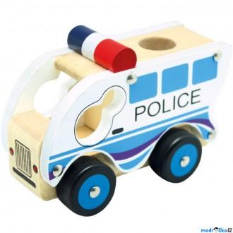 Dřevěné hračky - Auto - Policie dřevěné (Bino)
