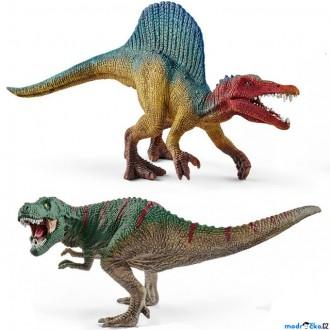 Ostatní hračky - Schleich - Dinosaurus set, Spinosaurus a T-Rex