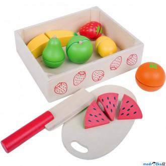 Dřevěné hračky - Krájení - Ovoce v krabičce (Bigjigs)