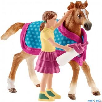 Ostatní hračky - Schleich - Jezdecký klub, Hříbě s holčičkou
