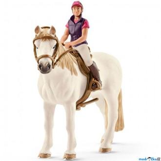 Ostatní hračky - Schleich - Kůň s jezdcem, Rekreační jezdkyně na koni
