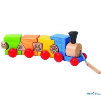 Dřevěné hračky - Vlak skládací - Navlékací vláček (Voila)