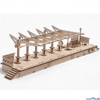 Puzzle a hlavolamy - 3D mechanický model - Vlakové nádraží (Ugears)