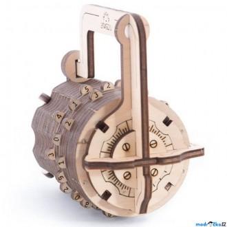 Puzzle a hlavolamy - 3D mechanický model - Číselný zámek (Ugears)
