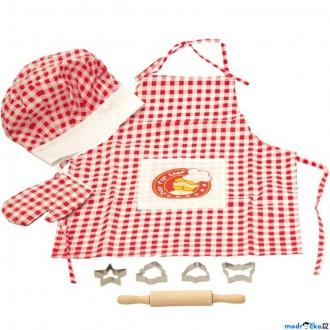 Dřevěné hračky - Kuchyň - Kuchařské oblečení s příslušenstvím (Woody)