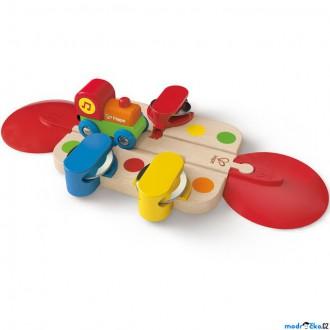 Vláčkodráhy - Vláčkodráha KIDS - Kolej s tamburinou a mašinkou (Hape)