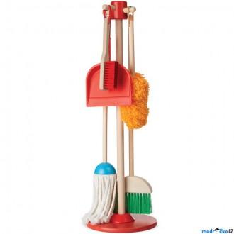 Dřevěné hračky - Hospodyňka - Dětská úklidová sada DELUXE (M&D)