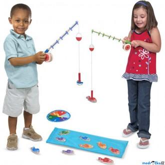 Dřevěné hračky - Magnetický rybolov - Rybaření s pruty (M&D)