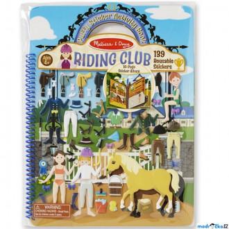 Dřevěné hračky - Samolepky - Deluxe kniha, Jezdecký klub, 139ks (M&D)