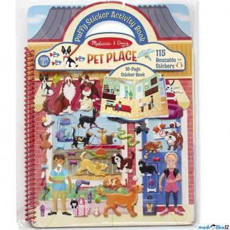 Dřevěné hračky - Samolepky - Deluxe kniha, Domácí mazlíčci, 115ks (M&D)