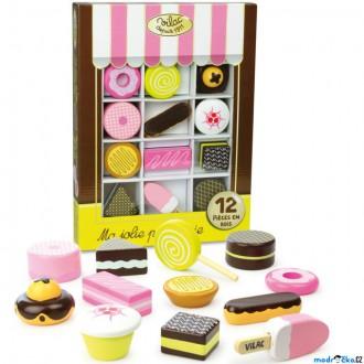 Dřevěné hračky - Dekorace prodejny - Set dřevěných sladkostí (Vilac)