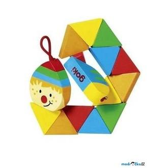 Dřevěné hračky - Drobné hračky - Klaun do kapsy (Goki)