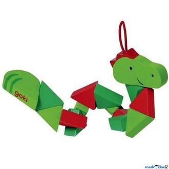 Dřevěné hračky - Drobné hračky - Krokodýl do kapsy (Goki)