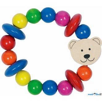 Pro nejmenší - Chrastítko - Kroužek korálkový, Medvídek (Heimess)