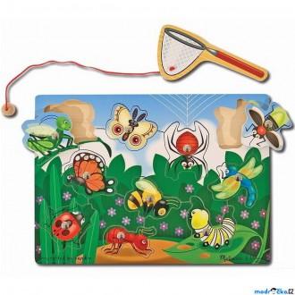 Dřevěné hračky - Magnetický rybolov - Vkládačka louka (M&D)