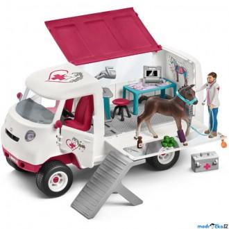 Ostatní hračky - Schleich - Jezdecký klub, Mobilní veterinářská klinika s ošetřovatelem