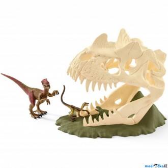 Ostatní hračky - Schleich - Dinosaurus set, Velká lebka s Velociraptorem a ještěrem