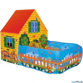 Ostatní hračky - Dětský domeček - Stan domeček se zahrádkou (Bino)