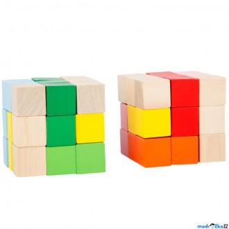 Puzzle a hlavolamy - Hlavolam dřevěný - Barevná skládací kostka, 1ks (Legler)
