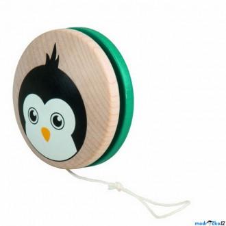 Dřevěné hračky - Drobné hračky - Jojo Tučňák, tyrkysové (Detoa)