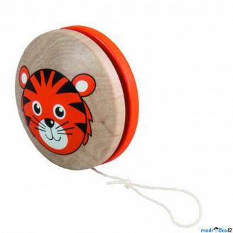 Dřevěné hračky - Drobné hračky - Jojo Tygřík, oranžové (Detoa)