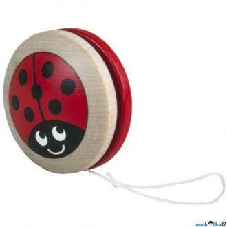 Dřevěné hračky - Drobné hračky - Jojo Beruška, červené (Detoa)