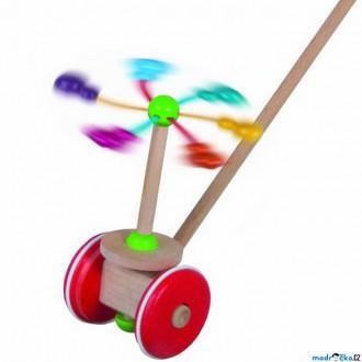 Dřevěné hračky - Jezdík na tyči - Strkadlo kolotoč (Detoa)