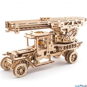Stavebnice - 3D mechanický model - Truck UGM-11, Požární žebřík (Ugears)