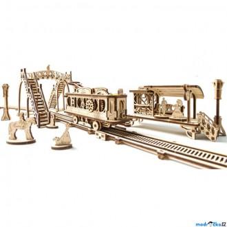 Stavebnice - 3D mechanický model - Tramvajová linka (Ugears)